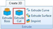 extrude cut cadcam