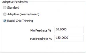 adaptive feedrates in cadcam
