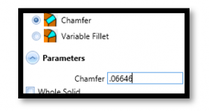 chamfer options in bobcad cnc software