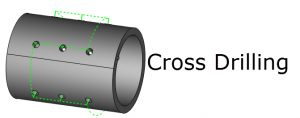 cnc software cross drilling