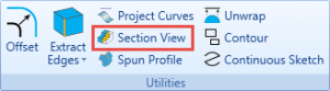section view in cnc software