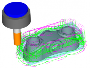 tool crawling along part in cam software