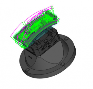 bobcad multiaxis roughing toolpath in bobcad cadcam
