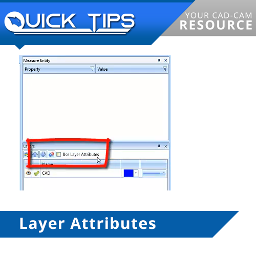 layer attributes function in bobcad cnc software