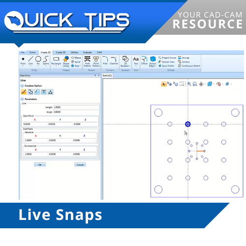 bobcad cnc software live snap function