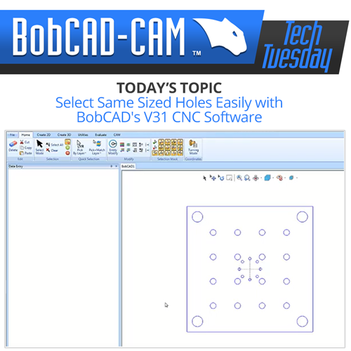 pick and match in bobcad cnc software