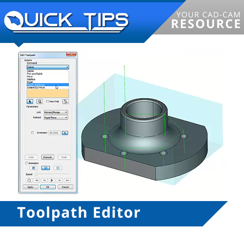 bobcad cnc software function, toolpath editor