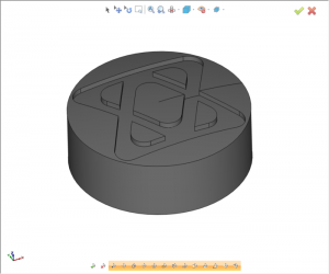 bobcad after solid boolean