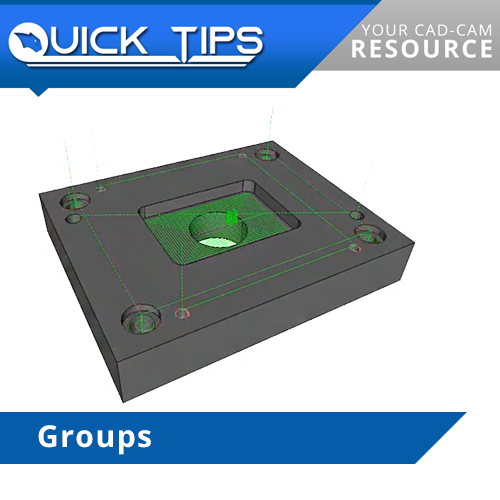 groups feature in bobcad cnc software