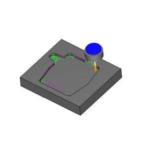 2d rest milling in bobcad's cnc software