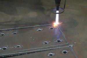plasma cutting controlled by bobcad cad-cam