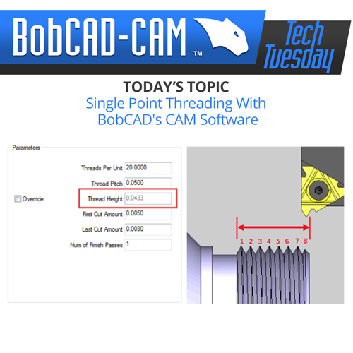 bobcad cnc software thread milling