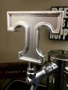 beer tap made with bobcad cad-cam software