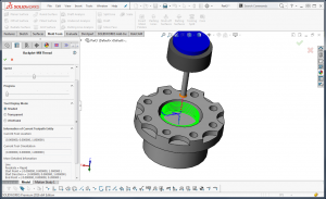 thread milling in bobcam cam software for solidworks