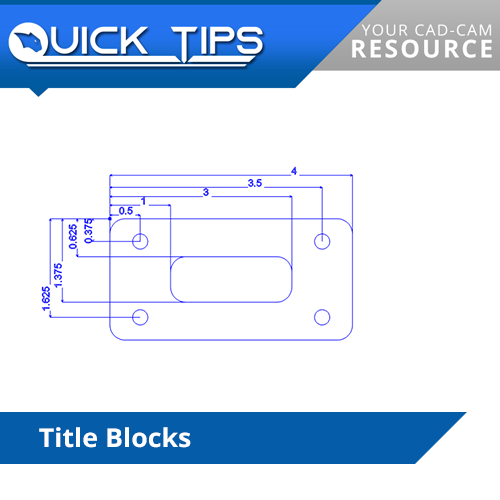 title blocks in bobcad cnc software