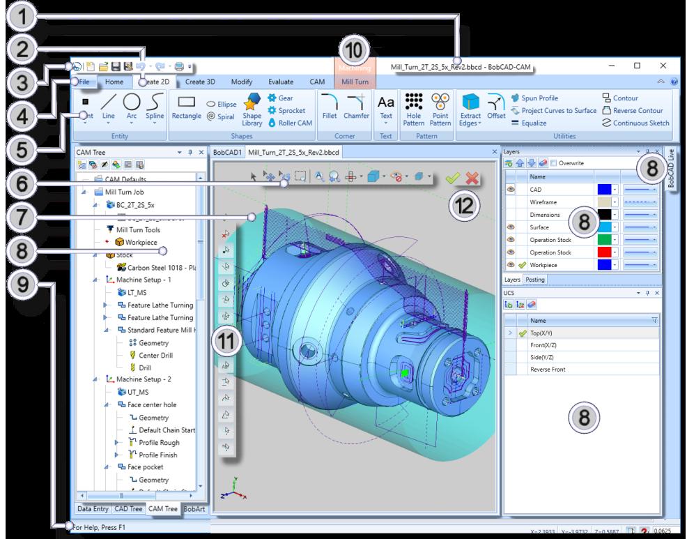 bobcad cnc software new user interface