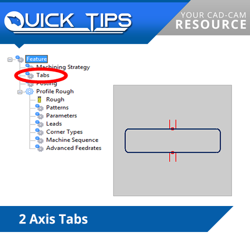 bobcad cnc software quick tip; tabs