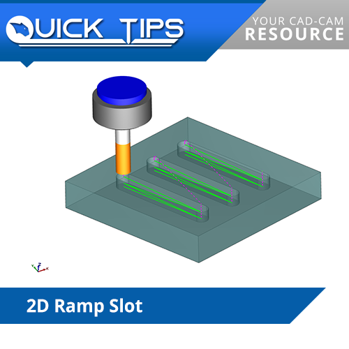 bobcad cnc software tip on 2d ramp slot