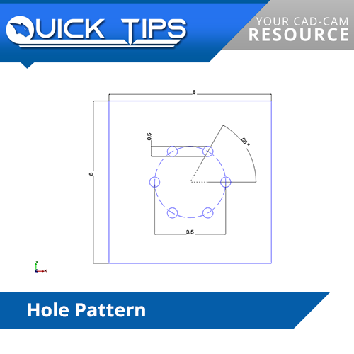 v31 cnc software quick tip; hole pattern