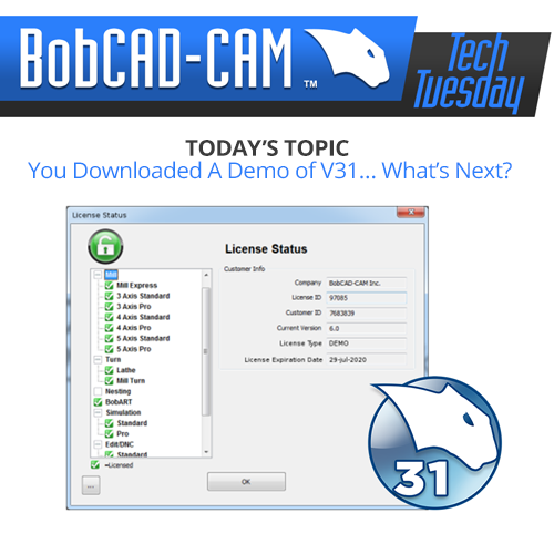 bobcad v31 cam software demo mode