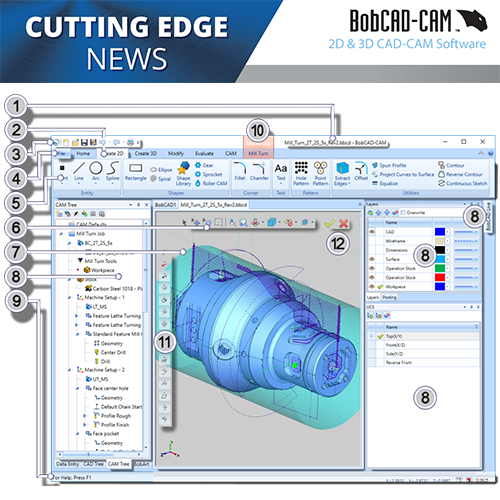 bobcad cnc software user interface; new