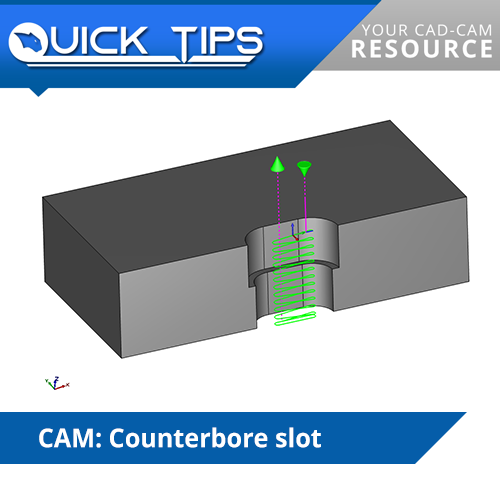 bobcad cam counterbore slot cnc software quick tip