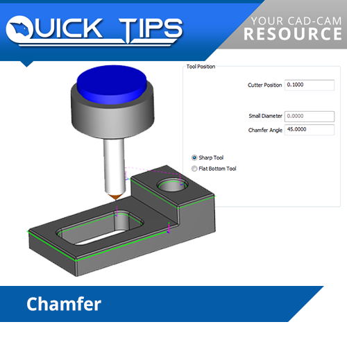 chamfering using bobcad cnc software