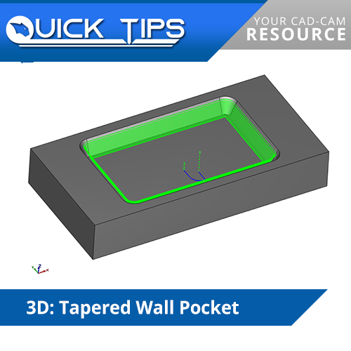 bobcad cnc software quick tip; pocketing tapered walls