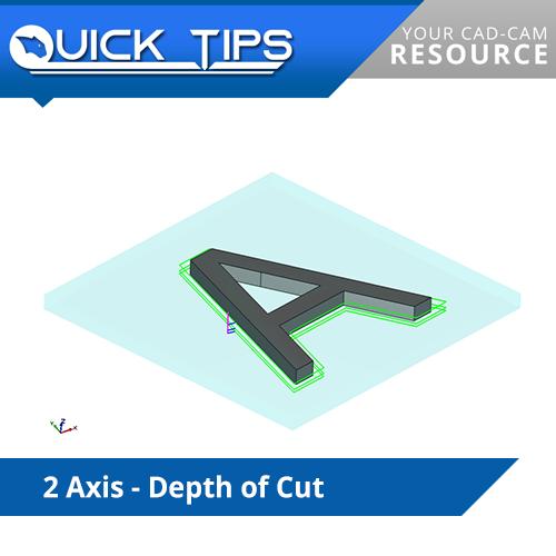 bobcad cnc software tip; depth of cut