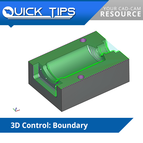bobcad cnc software quick tip; 3d boundary control