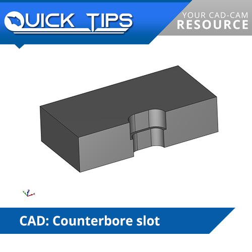 bobcad counterbore slot cnc quick tip