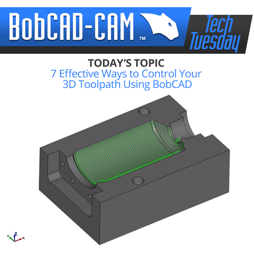 bobcad cnc software tech tuesday article; 3d toolpaths