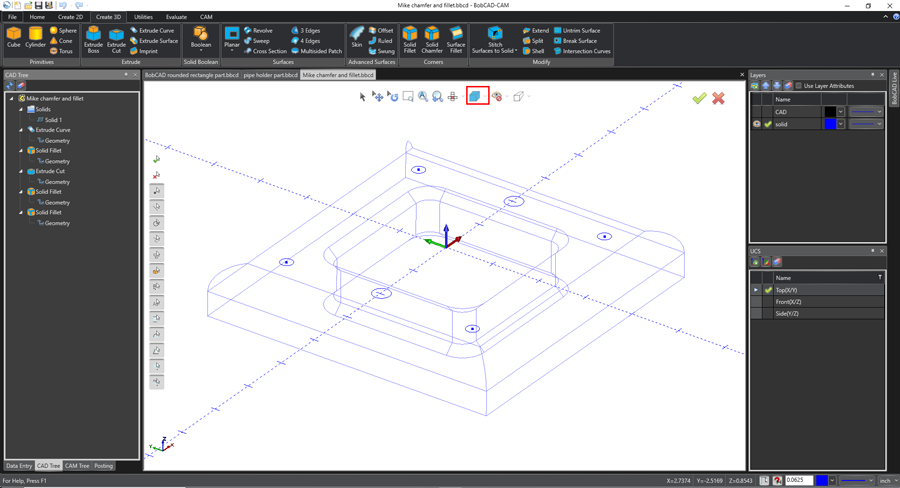 easy geometry selection with bobcad's cnc software
