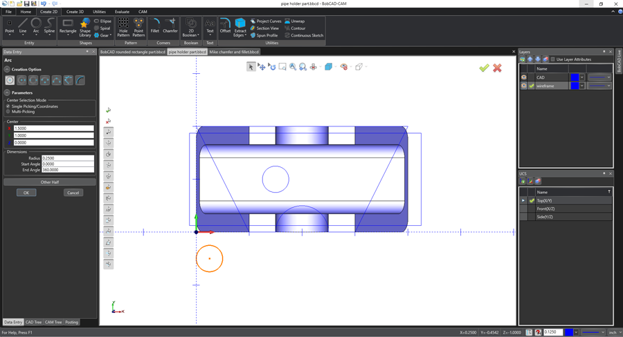 easy calculations in bobcad's cam software