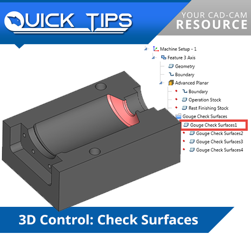 bobcad cnc software check surfaces function; quick tip
