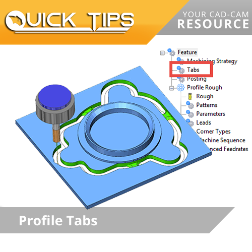 bobcad cam software quick tip; using tabs