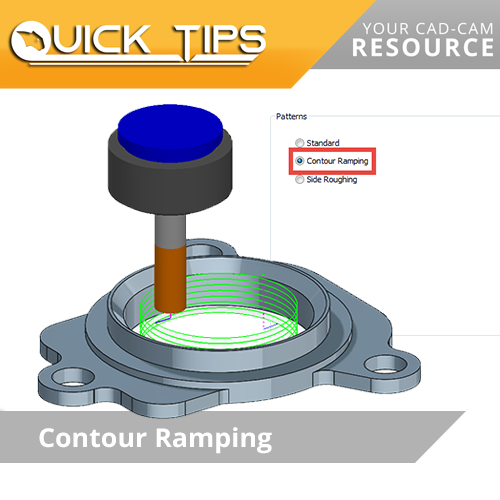 bobcam cam software quick tip; contour ramping