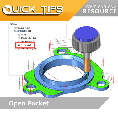 bobcam cnc software quick tip; open pockets