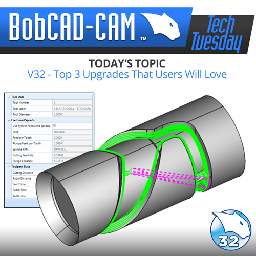 bobcad v32 cnc software - top 3 upgrades
