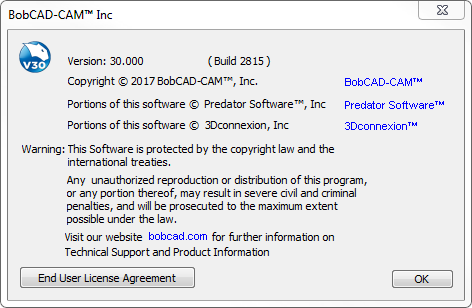 Locating your version and build number in older versions of BobCAD-CAM's CAD-CAM software