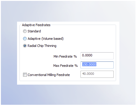 Adaptive Feedrates - CAM feature found in BobCAD-CAM V33