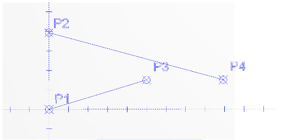Use the CAD system to find the center of rotation
